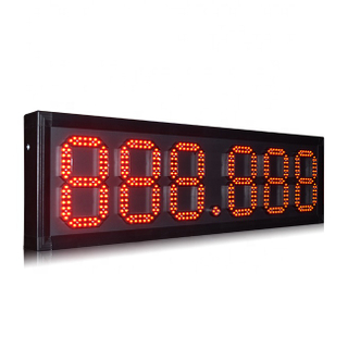 8'' 888.888 TROPIGAS red color led gas price sign