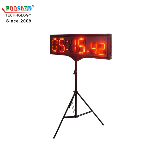Special Design Waterproof 8''+6'' Red Led Sports Countdown Timer