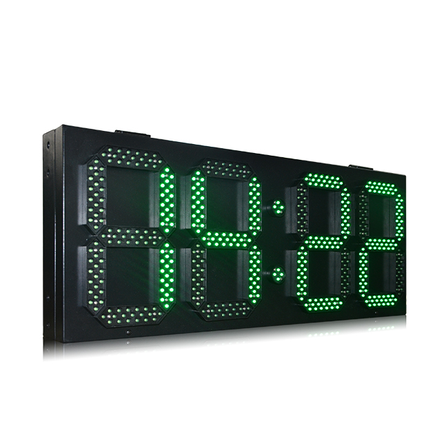 10 Inch High Brightness Green Waterproof Cabinet Led Time Zone Clock
