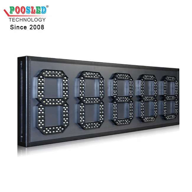 Special Design Outdoor High Brightness 8'' White 88888 Led Fuel Pricing Board
