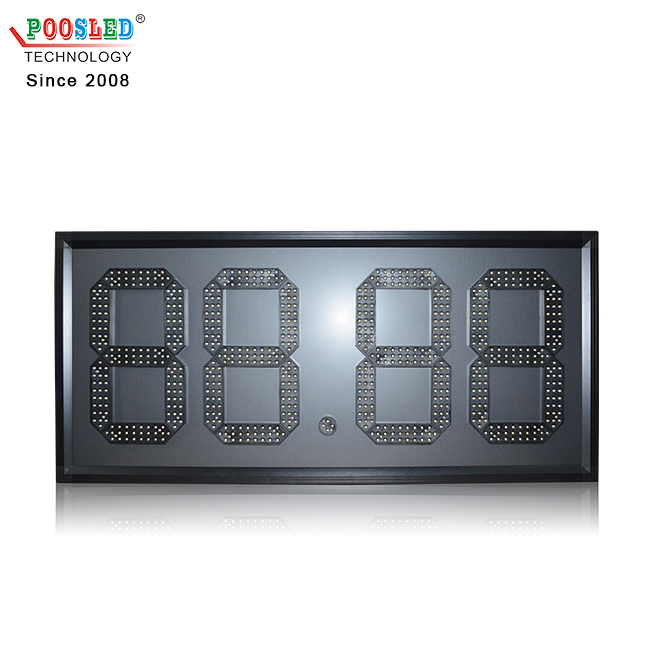 Factory Directly Provide Outdoor Waterproof 12'' White 88.88 Gas Station Led Signs