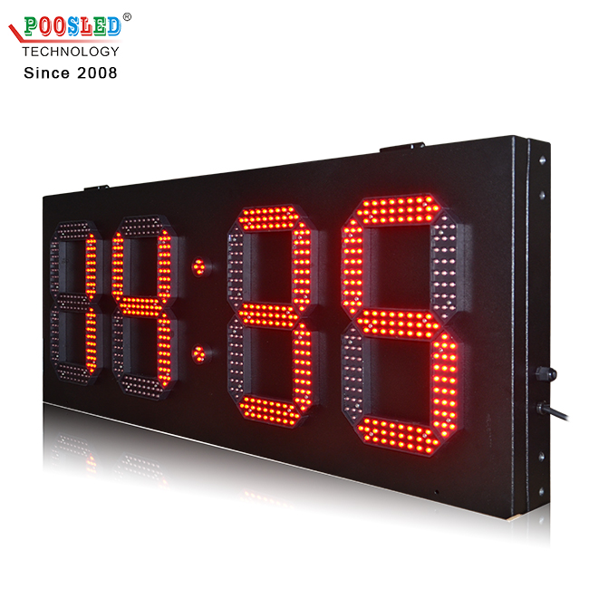 Top Quality Outdoor 10 Inch Red 88:88 Led Time And Temperature Sign