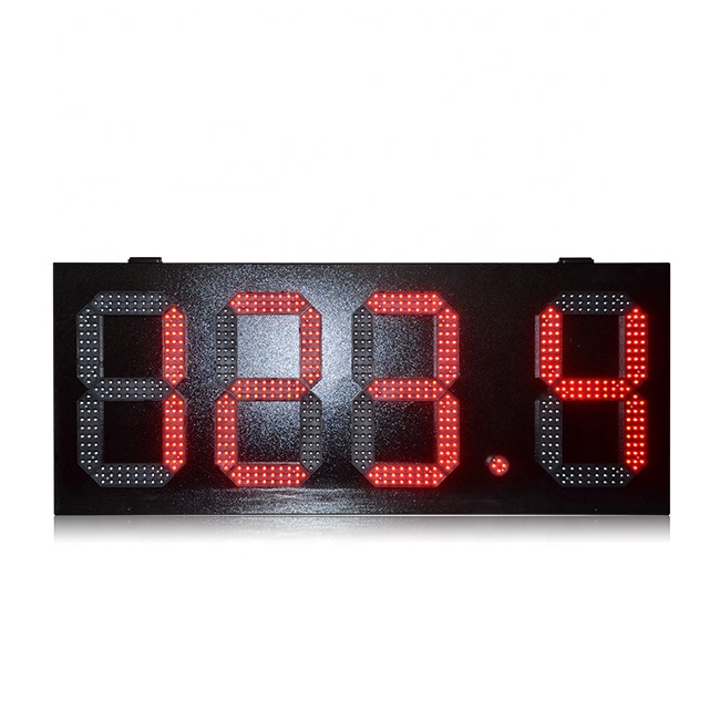 Popular 12'' Single Red 7 Segment 888.8 Led Gas Price Sign