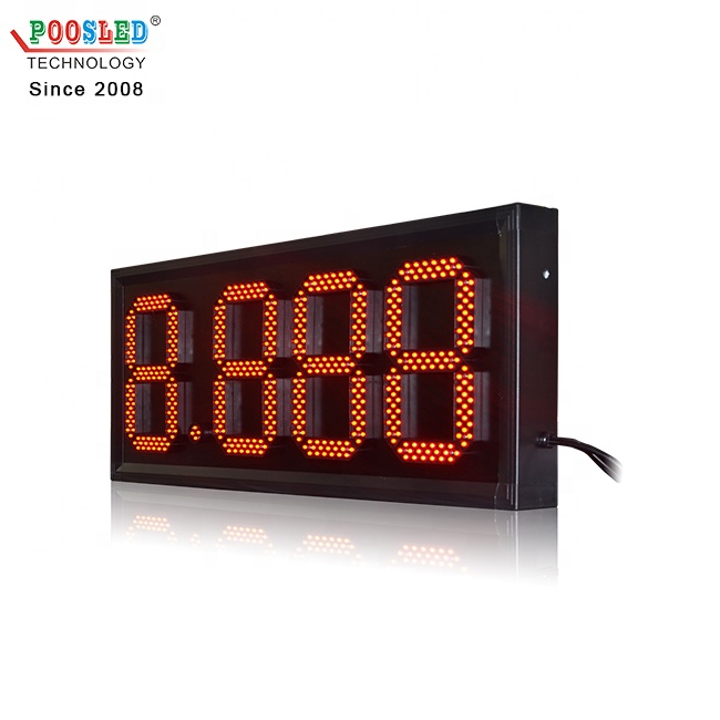 New Arrival 10 Inch Red 8.888 Aluminum Gas Station Led Sign