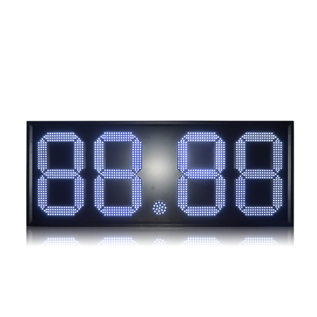 Hot Sale Mexico Pemex 18 Inch White 88.88 Led Gas Station Sign