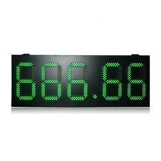 Good Quality Ip65 High Brightness 10 Inch Green Color 888.88 Gas Station Led Display