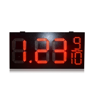 Hot Sale 12 Inch Red Waterproof 8.88 9/10 Gas Station Led Sign