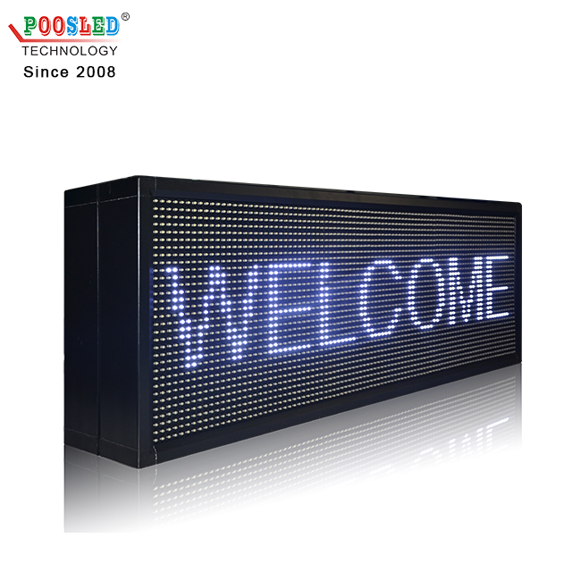 Double sided P10 White color led screen 3x2 led sign board
