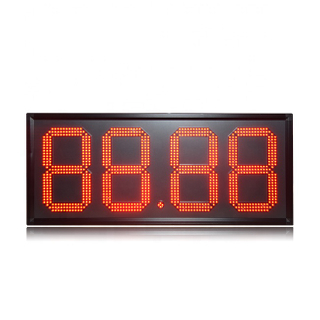 "Popular Outdoor Waterproof D15"" Red 88.88 Remote Control Led Gas Station Sign"