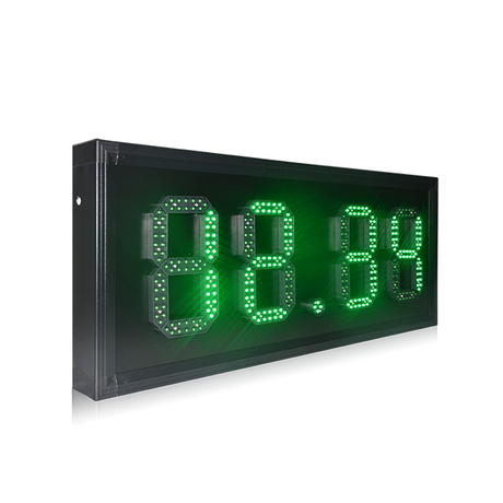 Factory Directly Provide Morocco 8'' Waterproof 88.88 Green Gas Station Led Display