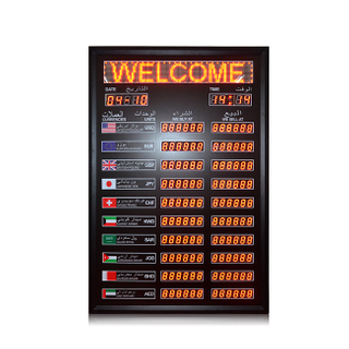 "Indoor 1.2''+1.0"" Red Led Digital Currency Exchange Rate Board"