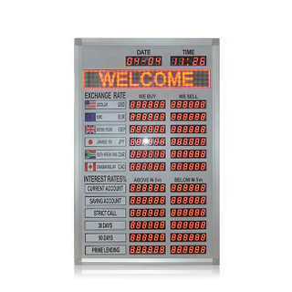 1.0 Inch Nigeria Led Display Board Rate Exchange Exchange Rate Display Board