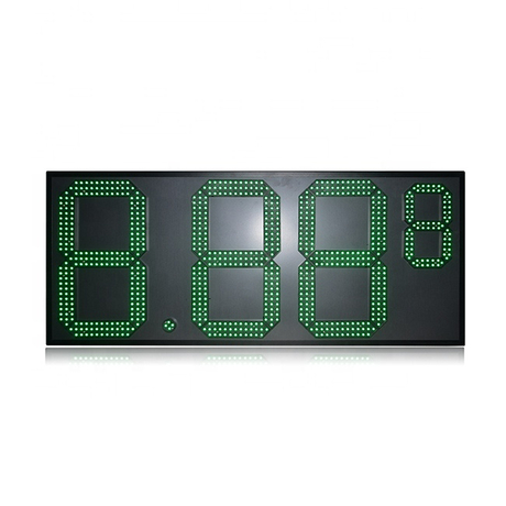 Hot Sale 8.88 9 High Brightness Green 7 Segment Led Gas Price Board