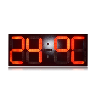 New Arrival 32 Inch Outdoor Large Single Red Led Clock Time Date Temperature Sign
