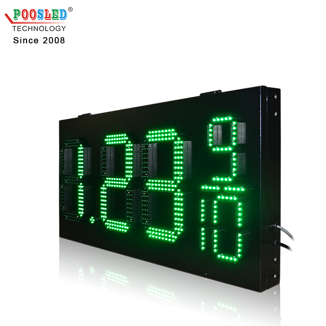 Factory Price 12''+6'' Green 7 Segments 8.88 9/10 Led Oil Gas Sign