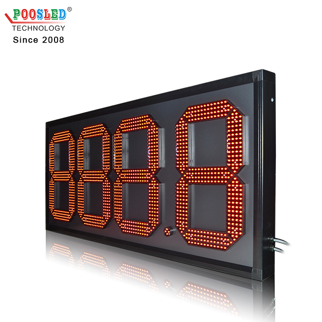 New Arrival Outdoor 18 Inch 888.8 RF Remote Control Led Sign for Gas Station