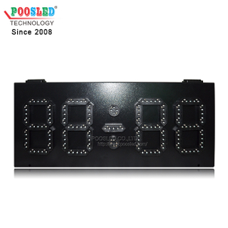 Small Size Iron Cabinet LED Time And Temperature Sign 6 Inch LED Digits
