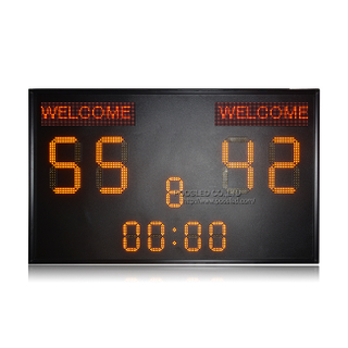 Good Quality Outdoor Ip53 15''+8'' Yellow Led Football Scoreboard