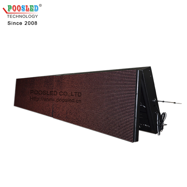 Hot Sale IP53 Waterproof P10 9x3 Red Led Message Board