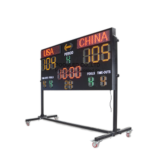 12 Years Manufacturer Basketball LED Score Board for Professional Basketball Match