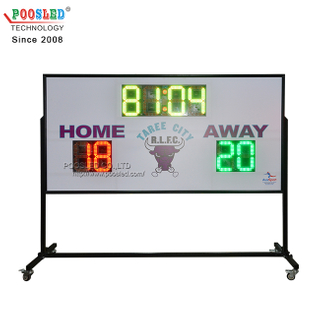 Hot Sale 12 Inch Red&Green&Yellow Portable Led Football Stadium Scoreboards