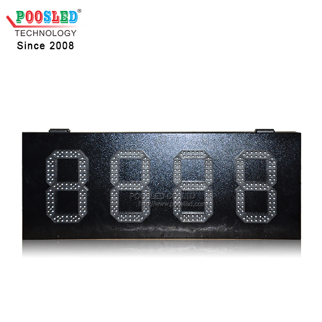 IP53 Iron Cabinet Yellow LED Time & Temperature Sign LED 7 Segment Module Digit Sign