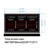 "Led Gas Price Changer With Cash Credit Debit 5.0"" PCB Digits"