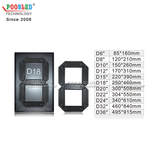 Professional Wholesale 18 Inch Amber Led 7 Segment Display