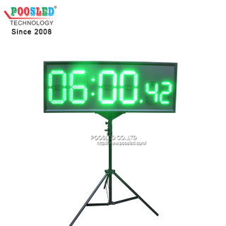 "12"" Green Digits LED Time Light Weight Aluminum Frame Indoor Using LED Sign"