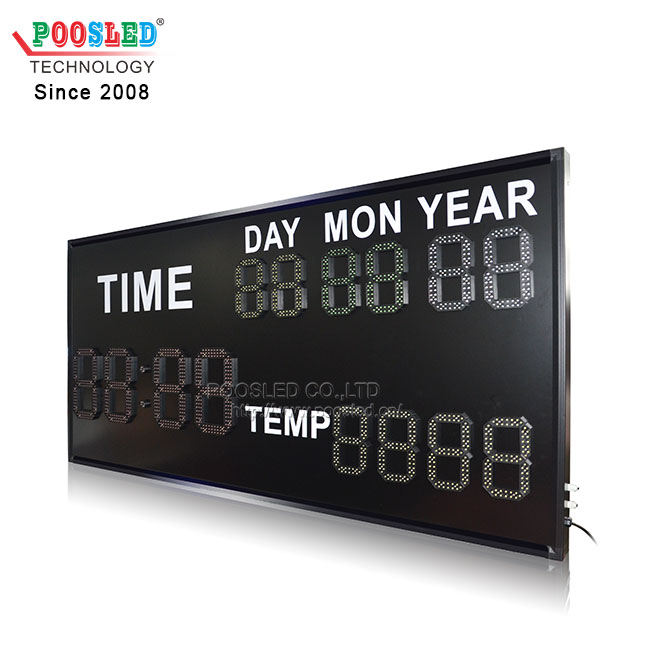 3 Function LED Digits Sign with 4 Colors Digits RF Remote Control LED Sign Used in Indoor