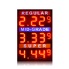 Super Design 10 Inch Red 3 Lines 8.88 9 Led Signs for Gas Station