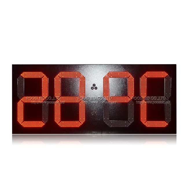 24 Inch Large Red 88:88 Waterproof Cabinet Led Digital Clock