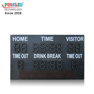 New Type LED Digit Module iron Cabinet Outdoor LED Football Scoreboard with Scrolling Sign Soccer Scoreboard