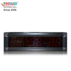 2.3 Inch Red Nixie Tube LED Clock Light Weight Aluminum Frame IP53 Indoor Using LED Timer