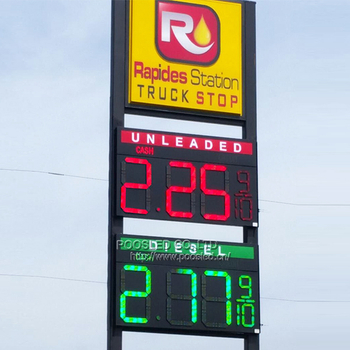America Oil Price Sign