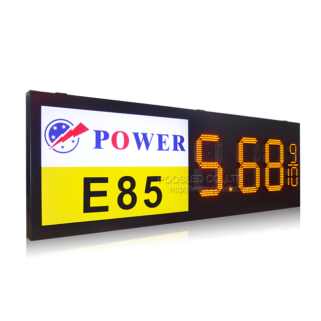 Wireless Control Advertising Led Display Price for Gas Station 7 Segment D15''+6'' Led Display Outdoor Oil Gas Sign